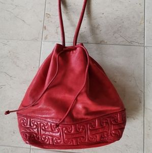 Rare Vintage 80's Maud Frizon red shoulder bag